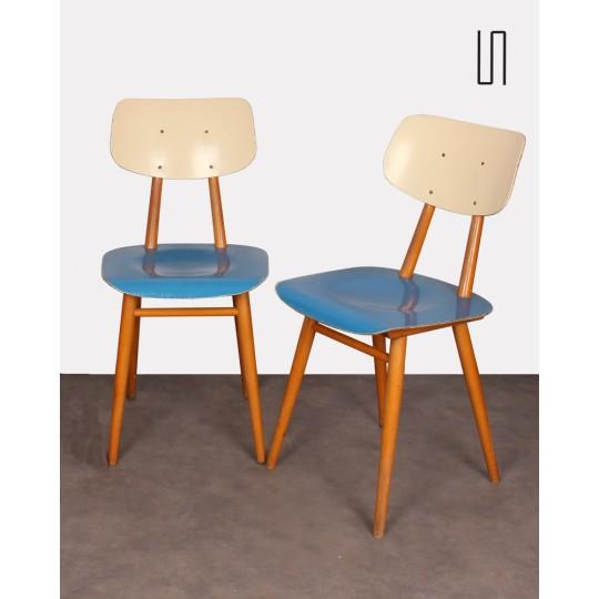 Paire de chaises vintage pour le fabricant Ton, 1960
