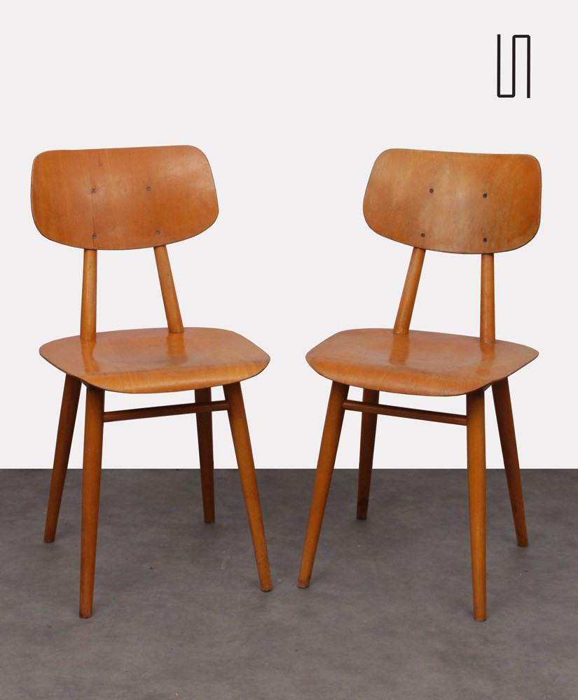 Pair of Eastern European chairs for Ton, 1960s