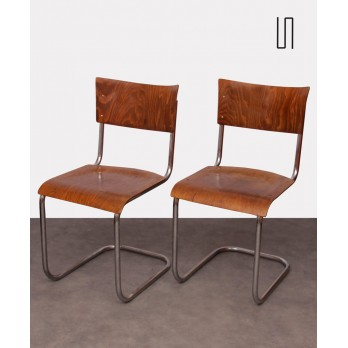 Pair of chairs by Mart Stam, produced by Kovona, 1940s