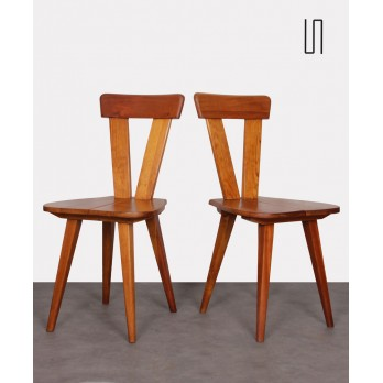 Pair of Polish chairs by Wincze and Szlekys, 1940s