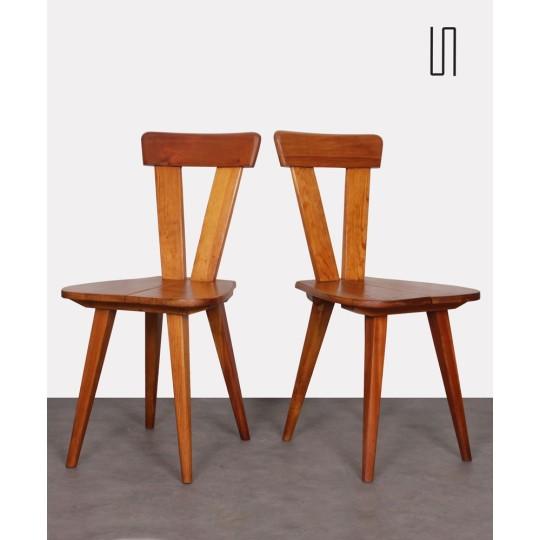Paire de chaises polonaises par Wincze et Szlekys, Design d'Europe de L'Est