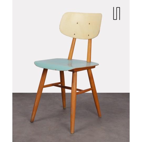Chaise en bois vintage pour l'éditeur Ton, 1960