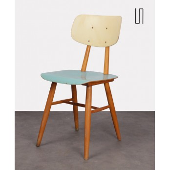 Vintage wooden chair for the producer Ton, 1960s