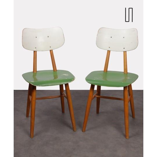 Paire de chaises vintage pour Ton, 1960