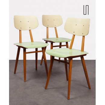 Set of 3 Czech chairs for the manufacturer Ton, 1960s