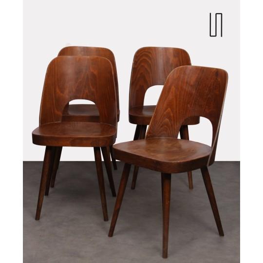 Suite de 4 chaises vintage par Oswald Haerdtl pour Ton, 1960