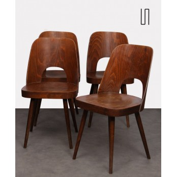 Suite of 4 vintage chairs by Oswald Haerdtl for Ton, 1960s