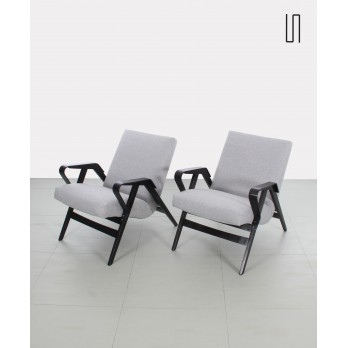 Pair of czech armchairs, soviet design by František Jirák and manufactured by Tatra Nabytok