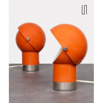 Pair of vintage lamps by Pavel Grus for Kamenický Šenov, 1970s