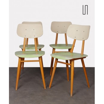 Series of 4 chairs edited by Ton, 1960s