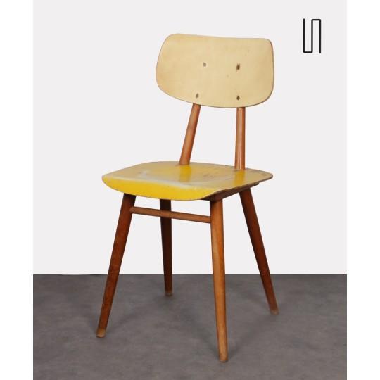 Paire de chaises vintage en bois pour Ton, 1960