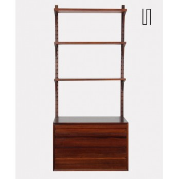 Scandinavian rosewood wall shelf by Poul Cadovius, 1960s