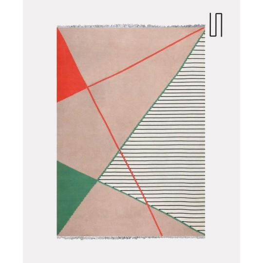 Très grand tapis géométrique par Antonin Kybal, 1950