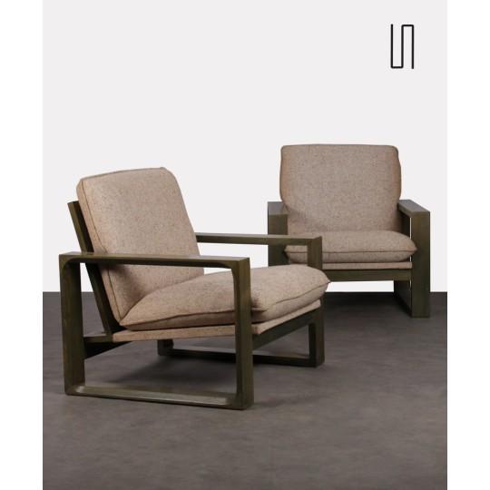 Paire fauteuils par Miroslav Navratil, modèle Daria, 1980