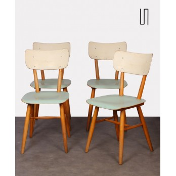 Set of 4 vintage chairs produced by Ton, 1960s