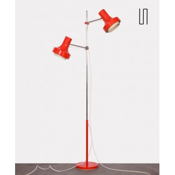 Red floor lamp by Josef Hurka for Napako, 1970s