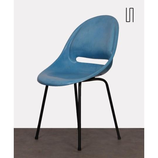 Blue chair by Miroslav Navratil for Vertex, 1959