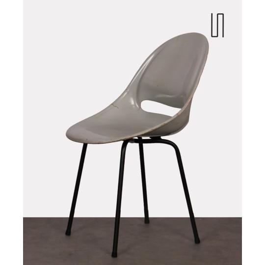 Chaise grise par Miroslav Navratil pour Vertex, 1959