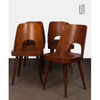 Suite of 6 chairs by Oswald Haerdtl for Ton, 1960s