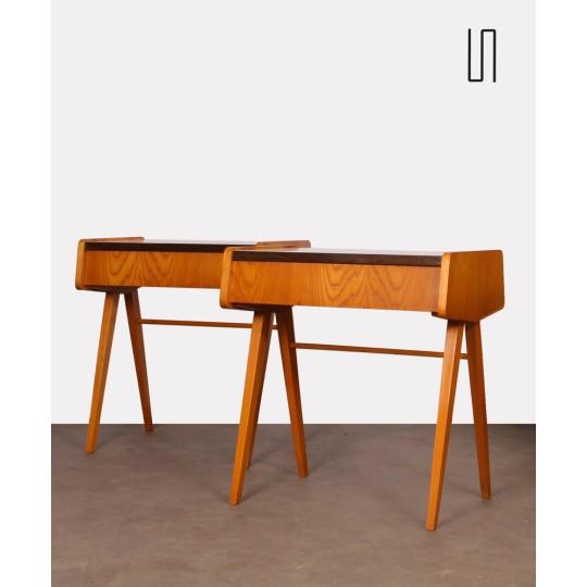 Paire de tables de nuit attribuées à Frantisek Jirak, 1970