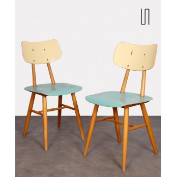 Pair of wooden chairs from the 1960s