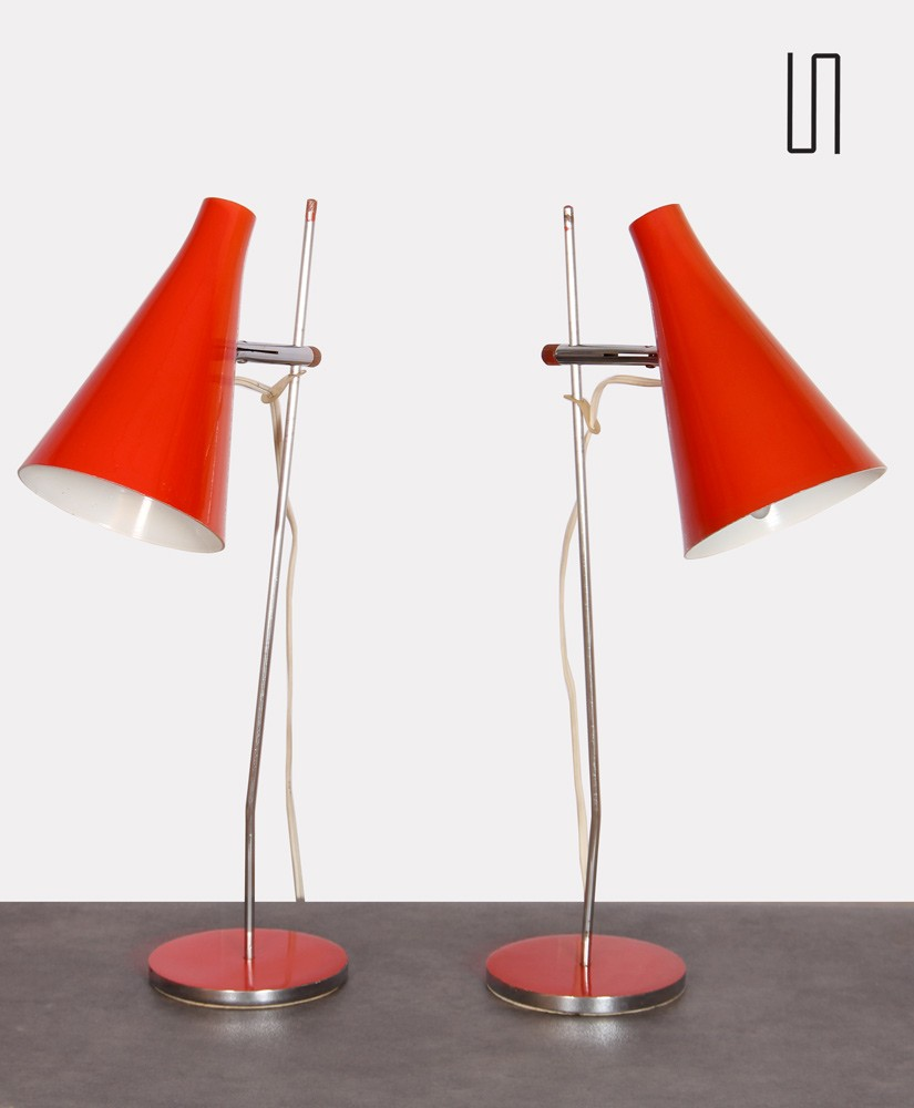Pair of lamps by Josef Hurka for the publisher Lidokov, 1960s