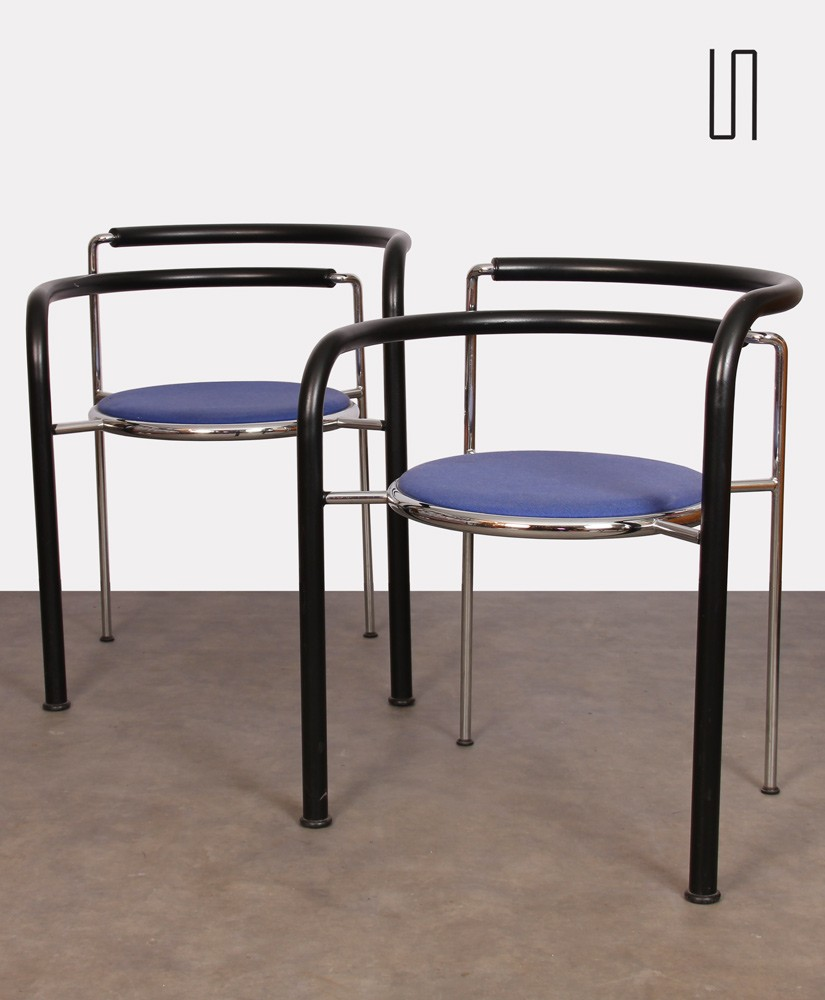 Pair of armchairs by Johnny Sørensen and Rud Thygesen for Botium, 1980s