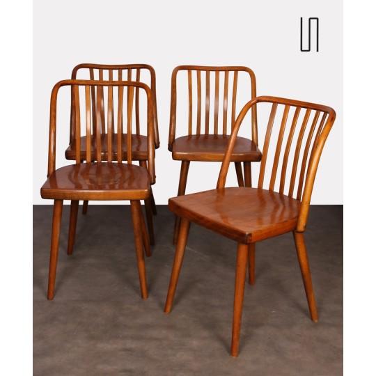 Ensemble de 4 chaises vintage par Antonin Suman, 1960