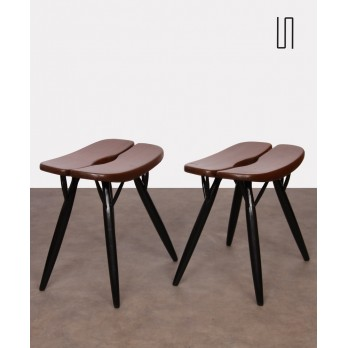 Pair of stools by Ilmari Tapiovaara, model Pirkka, 1950s