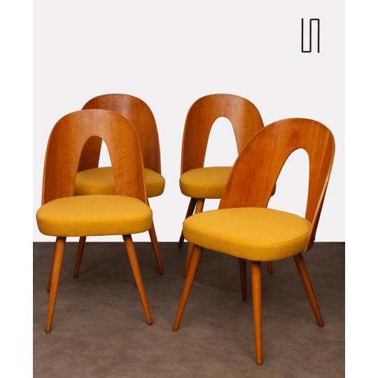 Ensemble de 4 chaises par Antonin Suman, 1960