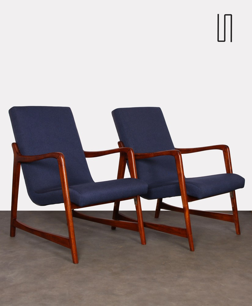 Pair of armchairs designed by Barbara Fenrych, 1960s