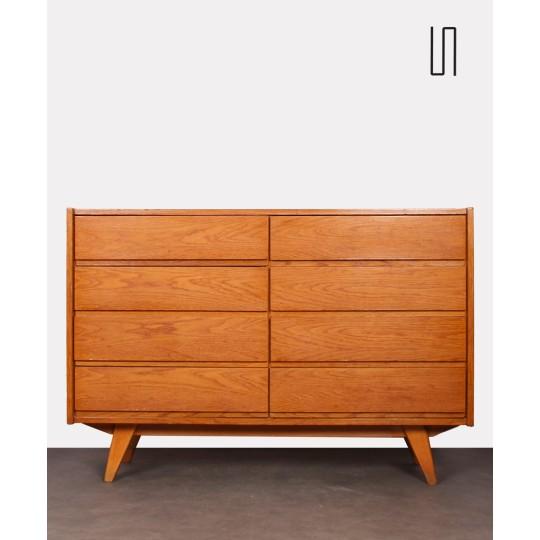 Commode en chêne à 8 tiroirs, Jiri Jiroutek pour Interier Praha, 1960