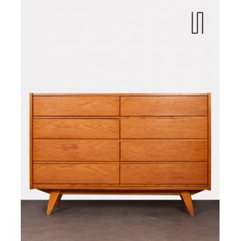 Oak chest with 8 drawers, Jiri Jiroutek for Interier Praha, 1960s