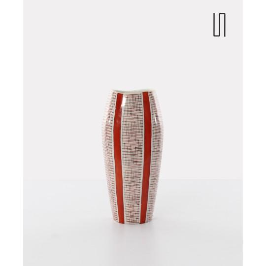 Vase polonais produit par Karolina, design vintage soviétique des pays de l'Est