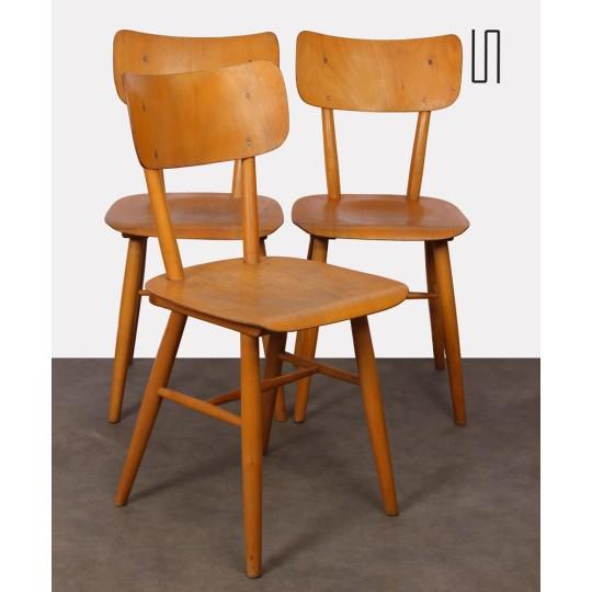 Ensemble de 3 chaises vintage d'Europe de l'Est, 1960