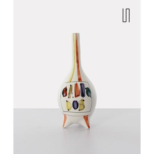 """Bouteille """"Calvados"""" en céramique par Roger Capron, Vintage"""