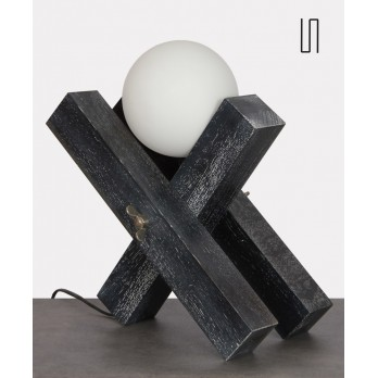 Lampe en bois par François Arnal, édition limitée, 1992