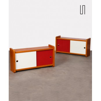 Pair of wooden wall cabinets, 1960s