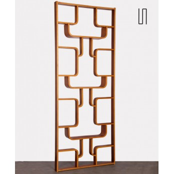 Czech mahogany room divider by Ludvik Volak, 1960s