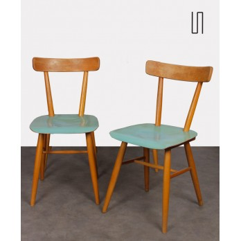 Set of 4 chairs from Eastern Europe produced by Ton, 1960s