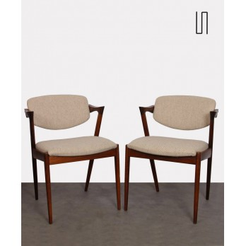 Pair of chairs by Kai Kristiansen, model 42, 1960s