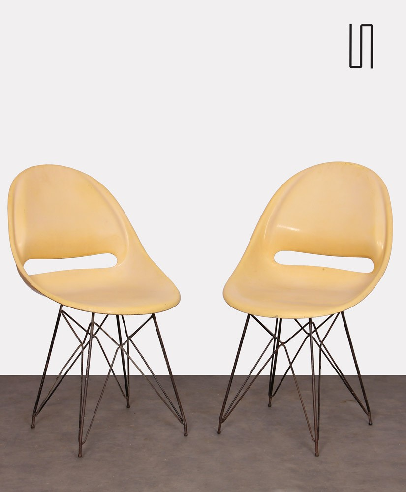 Pair of chairs by Miroslav Navratil for Vertex, 1959