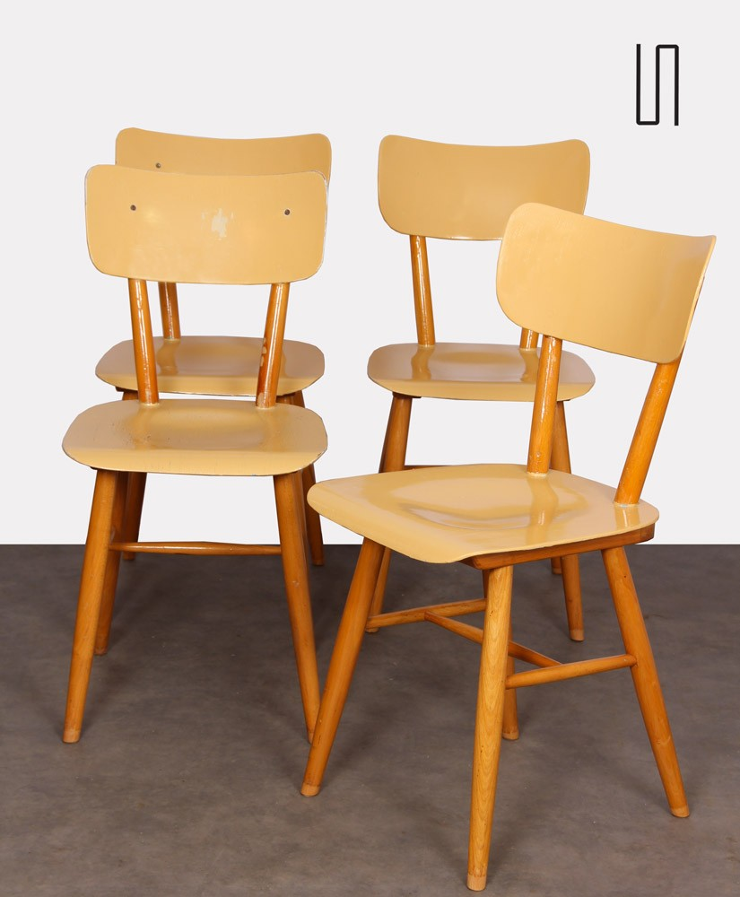 Set of 4 chairs produced by Ton, 1960s