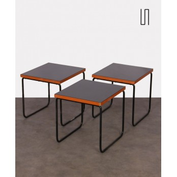 Suite of 3 coffee tables attributed to Pierre Guariche, 1950s