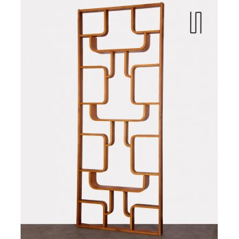 Vintage mahogany room divider by Ludvik Volak, 1960s
