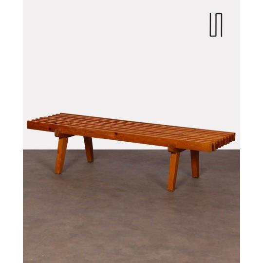 Czech slatted coffee table, 1960s