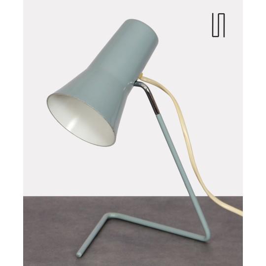 Vintage metal lamp by Josef Hurka for Drupol, 1960s
