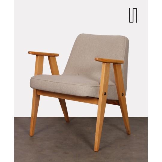 Oak armchair designed by Jozef Chierowski, circa 1960