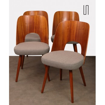 Suite of 4 chairs by Oswald Haerdlt for Tatra Nabytok, 1950