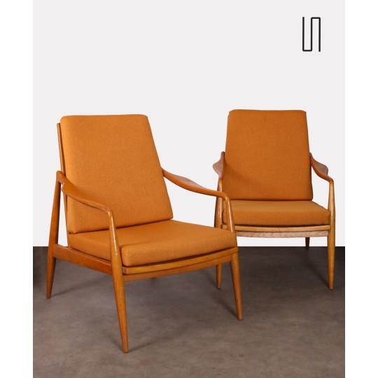 Paire de fauteuils vintage, fabrication tchèque, 1960